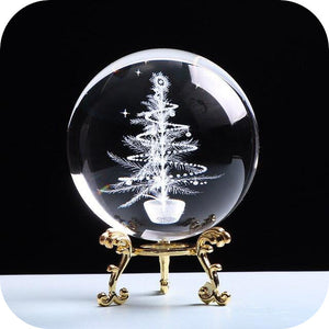 Crystal Luminous Christmas Tree Ball