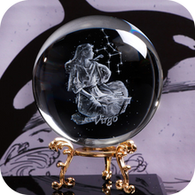 Load image into Gallery viewer, Crystal Luminous Zodiac Sign Ball Virgo