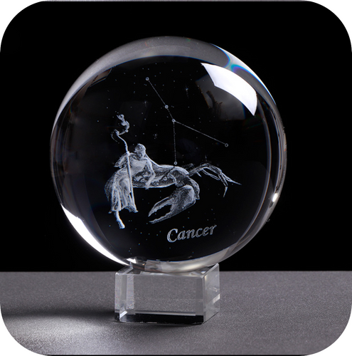 Crystal Luminous Zodiac Sign Ball Cancer