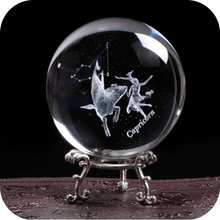 Load image into Gallery viewer, Crystal Luminous Zodiac Sign Ball Capricorn