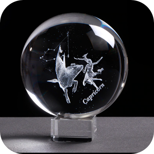 Crystal Luminous Zodiac Sign Ball Capricorn