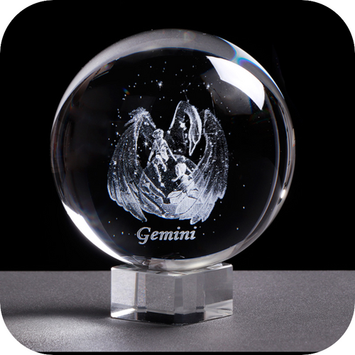 Crystal Luminous Zodiac Sign Ball Gemini