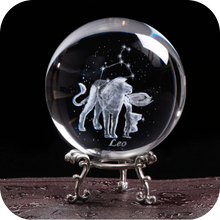 Load image into Gallery viewer, Crystal Luminous Zodiac Sign Ball Leo