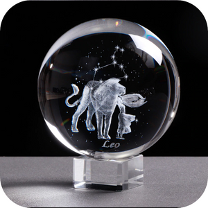 Crystal Luminous Zodiac Sign Ball Leo