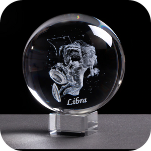 Crystal Luminous Zodiac Sign Ball Libra