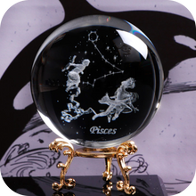 Load image into Gallery viewer, Crystal Luminous Zodiac Sign Ball Pisces