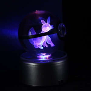 Crystal Engraved Poke Ball (Swampert) 8cm