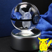 Load image into Gallery viewer, Glass pokeball with pokemon inside