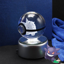 Load image into Gallery viewer, Crystal Engraved Poke Ball (Gengar) 8cm