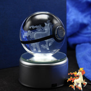Crystal Engraved Poke Ball (Rapidash) 8cm