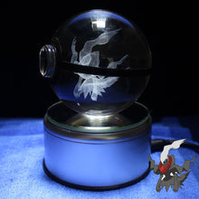 Load image into Gallery viewer, Crystal Engraved Poke Ball (Darkrai) 8cm