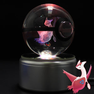 Crystal Engraved Poke Ball (Latias) 8cm