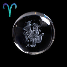 Load image into Gallery viewer, Crystal Luminous Zodiac Sign Ball Aries