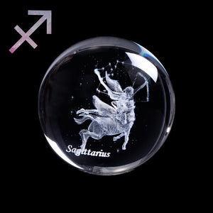 Crystal Luminous Zodiac Sign Ball Sagittarius