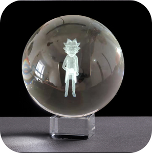 Rick Sanchez Engraved Crystal Ball