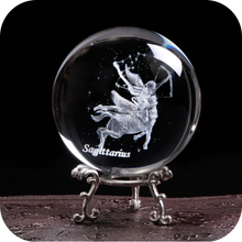 Load image into Gallery viewer, Crystal Luminous Zodiac Sign Ball Sagittarius