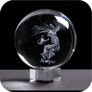 Crystal Luminous Zodiac Sign Ball Scorpio