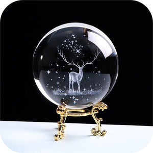 Crystal Luminous Deer Ball