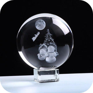Crystal Luminous Snowman Ball