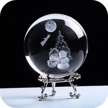 Load image into Gallery viewer, Crystal Luminous Snowman Ball
