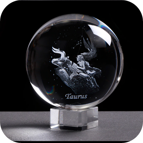 Crystal Luminous Zodiac Sign Ball Taurus