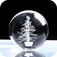 Load image into Gallery viewer, Crystal Luminous Christmas Tree Ball