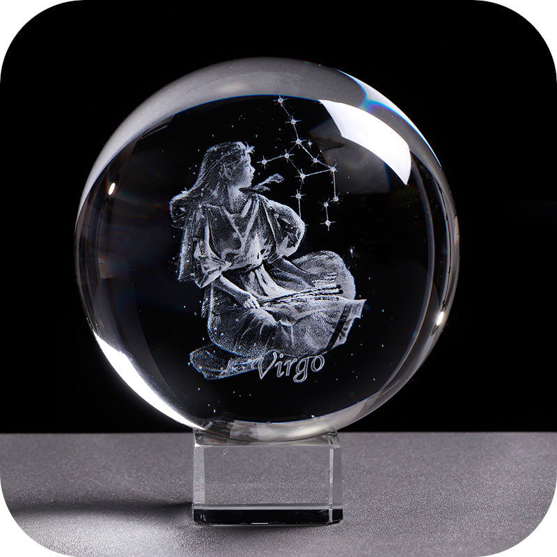 Crystal Luminous Zodiac Sign Ball Virgo