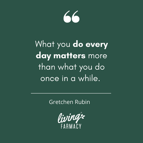 What you do everyday matters more than what you do once in a while