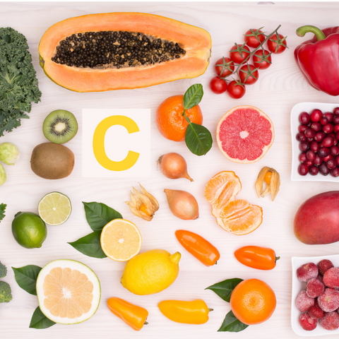 fruits and vegetables with vitamin C