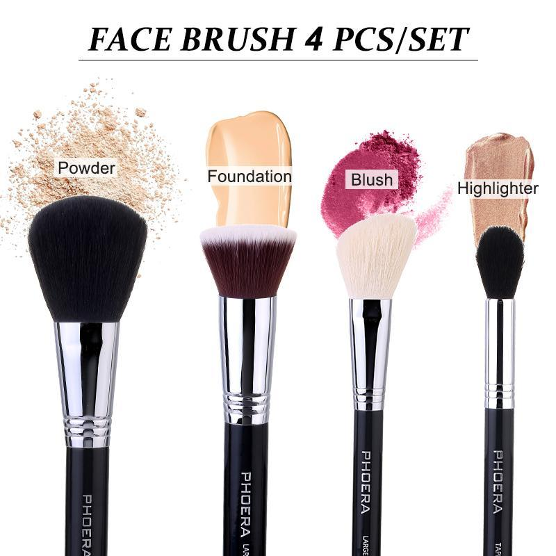 Phoera Face Brush 4pcs Set