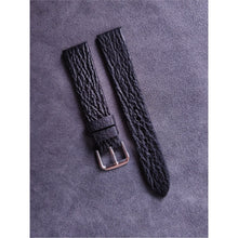 Load image into Gallery viewer, #5 18mm/16mm Black Shark Leather Watch Strap