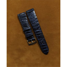 Load image into Gallery viewer, #15 20/16mm Deep Ocean Blue Ostrich Leg Strap (Central Leg)
