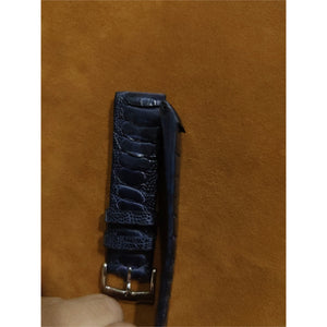 #15 20/16mm Deep Ocean Blue Ostrich Leg Strap (Central Leg)
