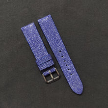 Load image into Gallery viewer, #20 20/18mm Ocean Blue Stingray Watch Strap