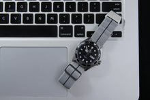 Load image into Gallery viewer, WRISKY Elastic Military Strap (Grey-Black Stripe) - Wrisky.co