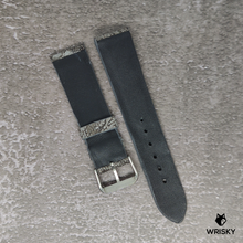 Load image into Gallery viewer, #90 22/20mm Bluish- Grey Nuback Ostrich Leg Leather Watch Strap With No Stitch