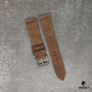 Premium Suede Leather Strap in Dark Brown