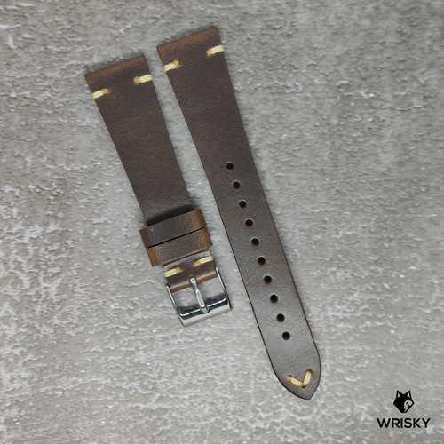 20mm Vintage Leather Strap in Brown