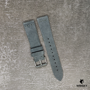 Premium Suede Leather Strap in Grey