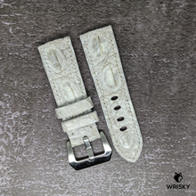 Load image into Gallery viewer, #174 24/22mm White Hornback Himalayan Crocodile Leather Strap