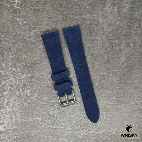 Premium Suede Leather Strap in Blue
