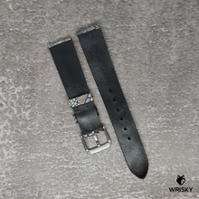 Load image into Gallery viewer, #123 18mm/16mm Washed Out Grey Ostrich Leg with No Stitch Leather Strap