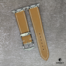 Load image into Gallery viewer, #89 (Apple Watch) White Python Leather Strap with white stitch