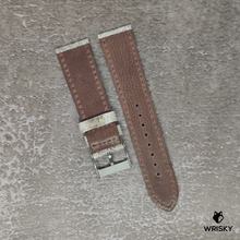Load image into Gallery viewer, #119 22/20mm Himalayan Crocodile Leather with Cream Stitch