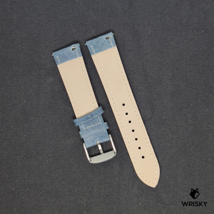 Kvarnsjö Leather Strap in Ice Blue