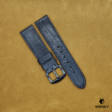 Load image into Gallery viewer, #26 22/20mm Blacked Out Python Leather Strap with Black Stitch and Black Buckle