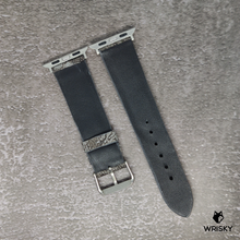 Load image into Gallery viewer, #94 (Apple Watch) Bluish- Grey Nuback Ostrich Leg Leather Watch Strap With No Stitch