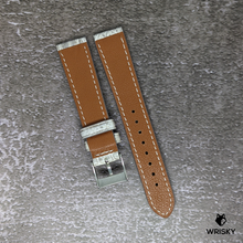 Load image into Gallery viewer, #181 18/16mm White Himalayan Crocodile Belly Leather Watch Strap