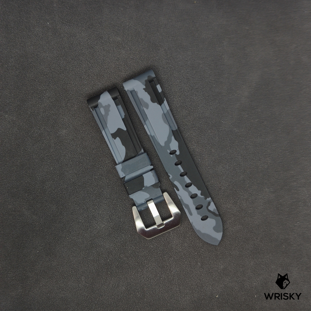 Premium Camo Rubber Strap in Grey