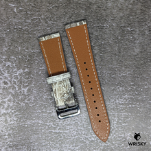 Load image into Gallery viewer, #234 22/18mm White Himalayan Crocodile Leather Watch Strap With Cream Stitches